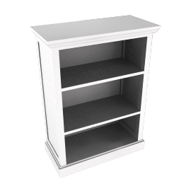 Ashton white bookcase