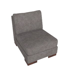 Signature 1 Seater Armless, Grey Brown