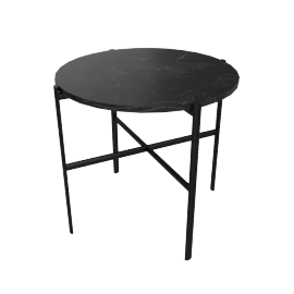 Outline Side Table, Black base Nero Marquina Top