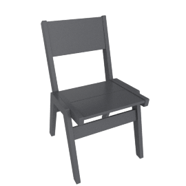 Alfresco Dining Chair, Charcoal Grey
