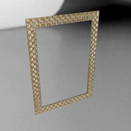 John Lewis Mosaic Silver Wall Mirror, 106 x 75cm