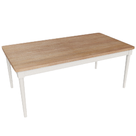 John Lewis Drift Rectangular 8 Seater Dining Table, White
