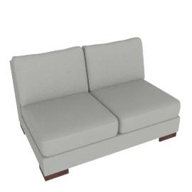 Signature 2-Seater Armless, Pebble