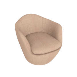 Lina Swivel Chair, Maharam fabric - Blush