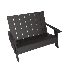 Adirondack Two-Seater Bench, Slate