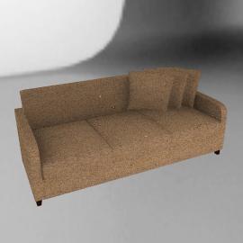 Mezzo Large Sofa, Bronze