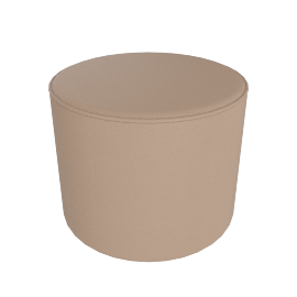 Gemini Round Pouffe, Porcelain