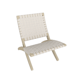 Cuba Lounge Chair, Soaped Oak, Natural