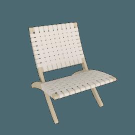 Cuba Lounge Chair, Soaped Oak, Natural