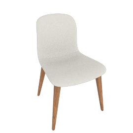 Bacco Chair, Tubular Steel legs, Bianco Leather