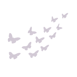 Sophie Set Of 12 3D Butterfly Wall Sticker Lilac
