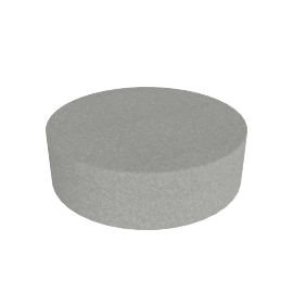 Drum Pouf, Cocktail, Light Grey