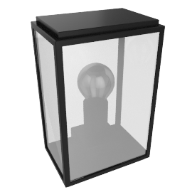 Homefield Outdoor Lantern, Black