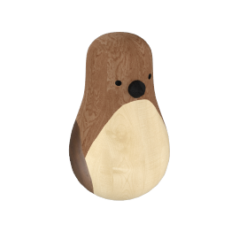 Re-Turned Penguin, mahogany