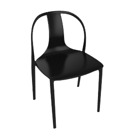 Belleville Side Chair, Deep Black
