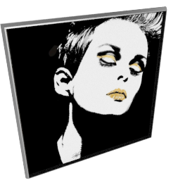Glam Rock III by KelliEllis - 54''x54'', Silver