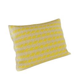 Maharam Pillow in Repeat Classic Houndstooth 18X26, Lemon