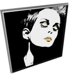 Glam Rock III by KelliEllis - 40''x40'', Silver