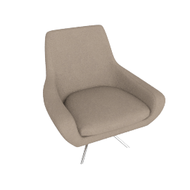 Noomi Swivel Chair, Sand