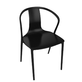 Belleville Armchair, Deep Black