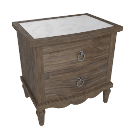 Lexington Night Stand-Dark Grey/White