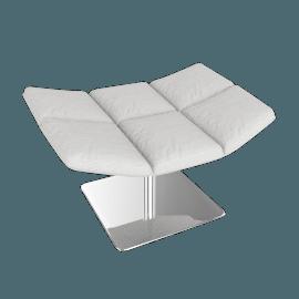 Jehs and Laub Ottoman, Pedestal Base – Fabric