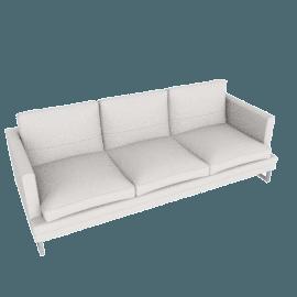 Corsica 3-Seater Sofa, Grey White