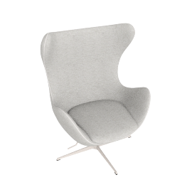 Egg Chair in Basel Fabric, white