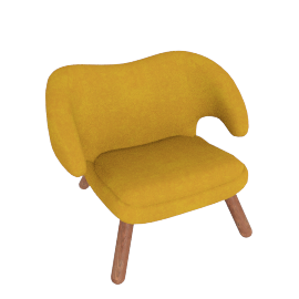 Pelican Chair, Canvas Gold