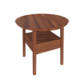 Edge Bedside Table, Walnut