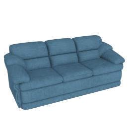 Cuddler 3 Seater, Light Blue