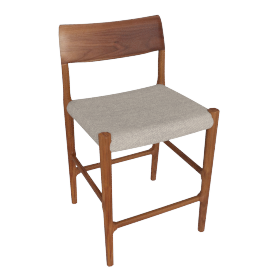 Moller Model 77C Counter Stool, Grey Hallingdal