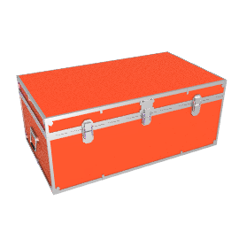 Fortified Steamer Trunk, Red