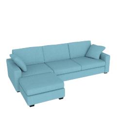 Tom Sofa Bed, Left Hand Facing, Sky Blue