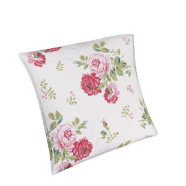 Cath Kidston Antique Rose Bouquet Cushion, Red / Pink