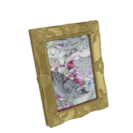 Cirque Photo Frame - 4x6 Inch, Gold