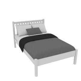 Wilton Bedstead, Small Double, White