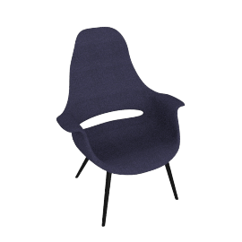 Organic Highback Chair - Petrol.Choc