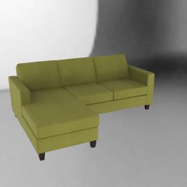 Portia LHF Chaise End Sofa, Olive / Dark Leg