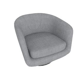 U-Turn Swivel Chair in Fabric