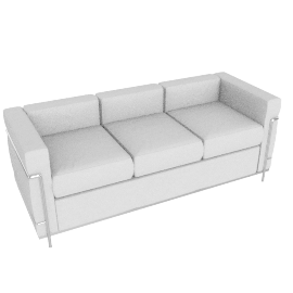LC2 Petit Modele Three-Seat Sofa