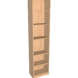Agatha Tall Narrow Bookcase, Oak