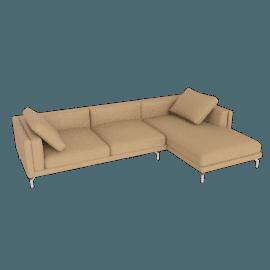Como Sectional Right Chaise, Kalahari Leather - Sand