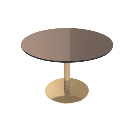Flash Round Coffee Table, Bronze