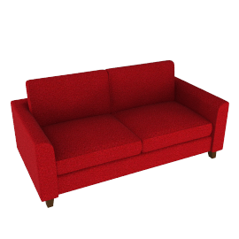Portia Medium Sofa, Red