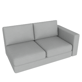 Eterno 2 Seater With Right Arm, Cloud