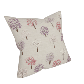 Mini Trees Cushion, Pink