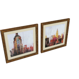 Towers Framed Print with Matt - Set of 2