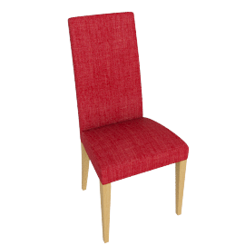 Lydia Dining Chair, Red