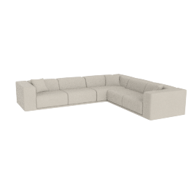 Kelston Corner Sectional Right-Facing, Leather Gesso